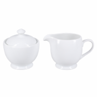 BIA Cordon Bleu Bistro Covered Sugar Bowl and Creamer Set - Porcelain