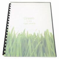 Gbc 100% Recycled Poly Binding Cover, 11 X 8 1/2, Frost, 25/Pack 25817 - 11 x 8.5