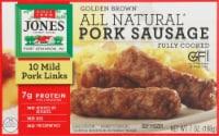 Jones Dairy Farm Golden Brown All Natural Mild Pork Sausage Links 10 Count