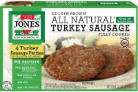 Jones Dairy Farm Golden Brown Fully Cooked Turkey Sausage Patties