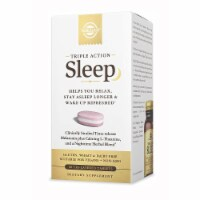 Solgar Triple Action Sleep,Time-Release Melatonin & L-Theanine Plus Herbal Blend,60 Tabs - 60