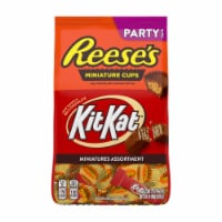 Reese's and Kit Kat Milk Chocolate Candy Miniatures Assortment Party Pack