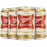 Miller High Life American Lager Beer 6 Cans