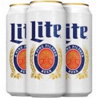 Miller Lite American Pilsner Beer - 4 cans / 16 fl oz