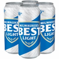 Milwaukee's Best Light American Lager Beer - 4 cans / 16 fl oz