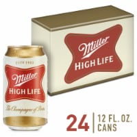 Miller High Life American Lager Beer 24 Cans