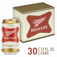 Miller High Life American Lager Beer 30 Cans