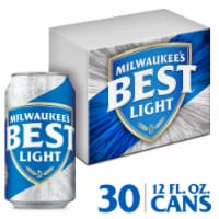 Milwaukee's Best Light American Lager Beer 30 Cans