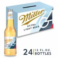 Miller64 Extra Light Lager Beer 24 Bottles