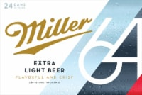 Miller64 Extra Light Lager Beer 24 Cans