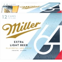 Miller64 Extra Light Lager Beer 12 Cans