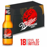 Miller Genuine Draft American Lager Beer - 18 bottles / 12 fl oz