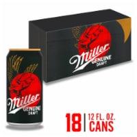 Miller Genuine Draft American Lager Beer 18 Cans