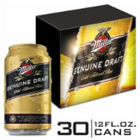 Miller Genuine Draft American Lager Beer 30 Cans