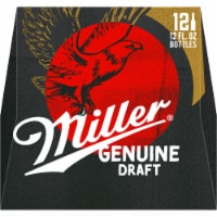 Miller Genuine Draft American Lager Beer 12 Bottles
