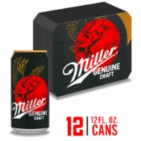 Miller Genuine Draft American Lager Beer 12 Cans
