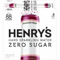Henry's Hard Passion Fruit Spiked Sparkling Water 6 Count