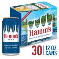 Hamm's America's Classic Premium Lager Beer 30 Count