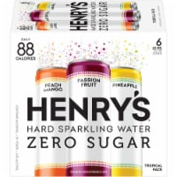 Henry's Hard Sparkling Water Tropical Variety Pack 6 Count
