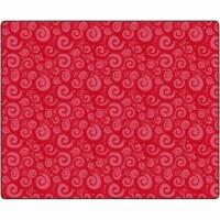 Flagship Carpets FE390-58A 10 ft. 9 x 13 ft. 2 Swirl Tone on Tone Rug, Cherry - Rectangle