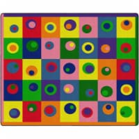 Flagship Carpets FE119-58A 10 ft. 9 in. x 13 ft. 2 in. Silly Circles Rug - Rectangle