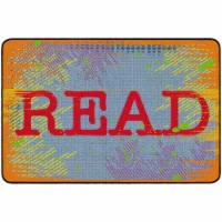Flagship Carpets FE342-32A 6 ft. x 8 ft. 4 in. Read School Library Rug, Bright - Rectangle - 1