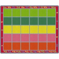 Flagship Carpets FE343-58A 10 ft. 9 in. x 13 ft. 2 in. Sitting Grid Classroom Rug, Bright - R - 1