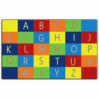 Flagship Carpets FE404-58A Rectangle Alphabet Seating Carpet, 10 ft. 9 in. x 13 ft. 2 in.
