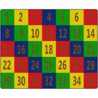 Flagship Carpets FE381-58A 10 ft. 9 x 13 ft. 2 Number Seating School Classroom Rug - Rectangl - 1