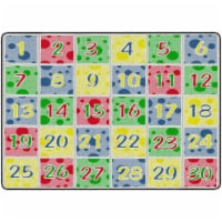 Flagship Carpets FE380-32A 6 x 8 ft. 4 Soft Primary Number Spots School Learning Rug - Rectan