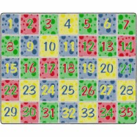 Flagship Carpets FE380-58A 10 ft. 9 x 13 ft. 2 Soft Primary Number Spots School Learning Rug