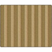 Flagship Carpets FA1008-58FS 10 ft. 6 x 13 ft. 2 Cozy Basketweave Stripe Classroom Rug, Natur - 1