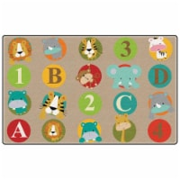 Flagship Carpets FE400-58A Rectangle ABC & 123 Animals Primary Rug, 10 ft. 9 in. x 13 ft. 2 i - 1