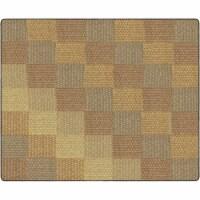 Flagship Carpets FA1010-58FS 10 ft. 6 x 13 ft. 2 Cozy Basketweave Blocks Classroom Rug, Natur - 1