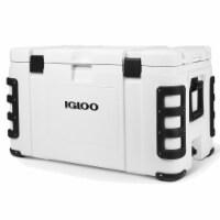 Igloo 00048493 Leeward 124 Quart Marine Grade Insulated Ice Chest Cooler, White