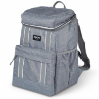 Igloo 30 Can Large Portable Insulated Soft Cooler Backpack Carry Bag, Light Gray