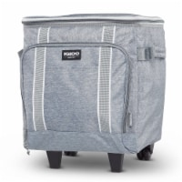 Igloo 40 Can Large Portable Insulated Soft Cooler with Rolling Wheels, Gray - 1 Piece