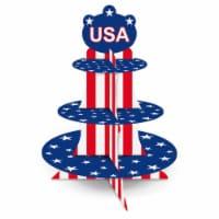Patriotic Cupcake Stand