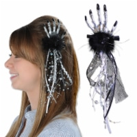 Beistle Halloween Party Decoration Skeleton Hand Hair Clip - 12 Pack (1/Card) - 1 unit