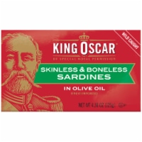 King Oscar Wild Caught Skinless & Boneless Sardines in Olive Oil