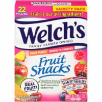 Welch's Fruit Punch and Berries 'N Cherries Fruit Snacks 22 Count
