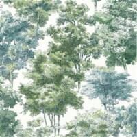Roommates RMK11615WP Old World Trees Peel & Stick Wallpaper, Green - 1