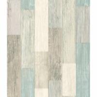RoomMates Blue & Tan Coastal Weathered Plank Peel & Stick Wallpaper - 20.5 in x 16.5 ft