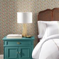 RoomMates RMK11315RL Floral Ditzy Vine Peel & Stick Wallpaper, Red - 1