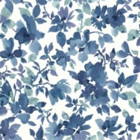 RoomMates Blue & White Watercolor Floral Peel & Stick Wallpaper - 1 ct