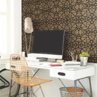 Roommates RMK10688WP Shatter Geometric Peel & Stick Wallpaper, Gold & Black - 1