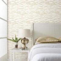 Roommates RMK10694WP Singed Peel & Stick Wallpaper, Gold - 1