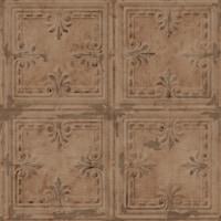 RoomMates RMK11231WP Copper Tin Tile Peel & Stick Wallpaper - 1