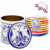 Finger Licking Dutch, Stroopwafel Cookies, in Dutch Tin 8 Ct  (QTY: 1) - 8.8 oz