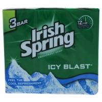 Irish Spring Icy Blast Bar Soap - 3 ct / 3.75 oz